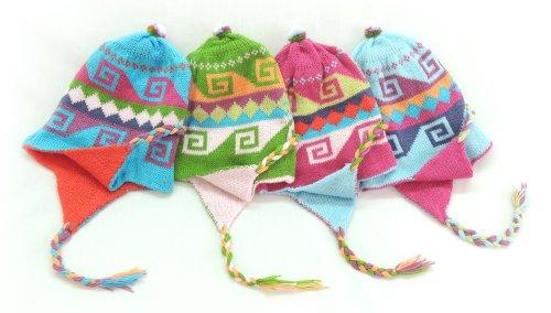 - Wholesale LOT 10 Pairs Peruvian Alpaca Wool Chullo Hat Ear Flap