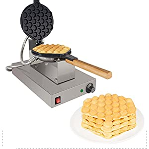 Bubble Egg Waffle Maker Professional Rotated Nonstick ALD Kitchen (Grill / Oven for Cooking Puffle, Hong Kong Style, Egg, QQ, Muffin, Cake Eggettes and Belgian Bubble Waffles) (Digital 110V)