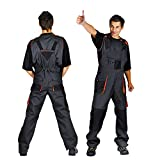 Classic Bib and Brace Overalls Mens Work Trousers Knee Pad Dungarees Multi Pocket Clasic and Knee Pads (50 (32-34 Inch) With Knee Pad)