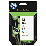 HP 74/75 Ink Cartridges, Black & Tri-col...