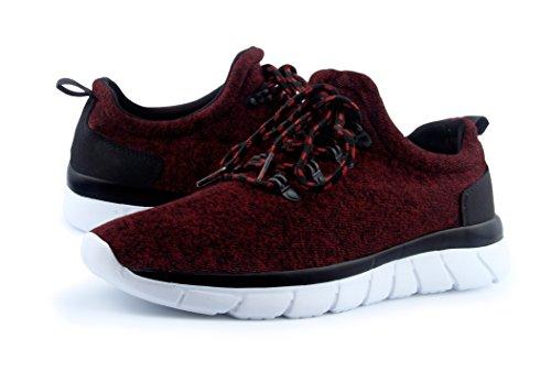 Sneakers Da Uomo Sneakers Atletiche Leggere Santino Rosso Vino