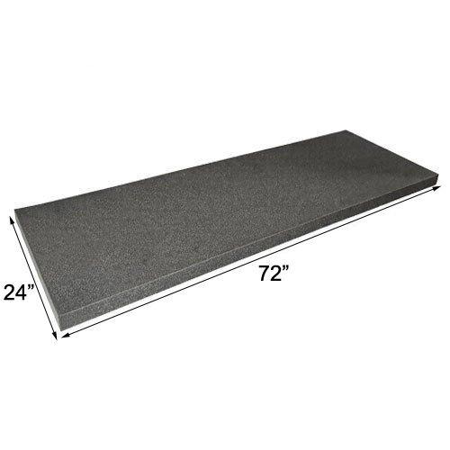(IZO All Supply Acoustic Foam Flat Panel Studio Soundproofing Foam Wall Panel 2 x 24 x 72 Polyurethane Charcoal Foam Padding Packing Foam)