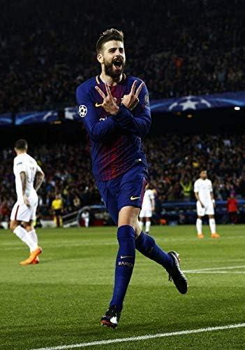 Desconocido Gerard Pique FC Barcelona la Liga España Fútbol Póster ...