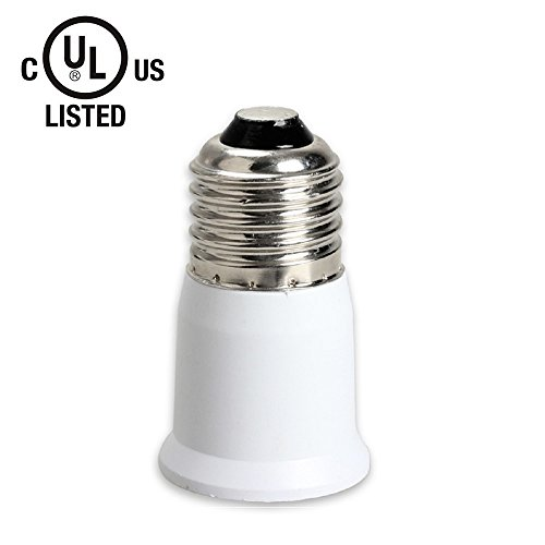 (Body of 2) YiLighting - UL-listed E26 to E26 Extender -E26 Edison Screw to E26 Edison Screw Lamp Bulb Socket Extension Adapter For LED CFL Lights ONLY, (NOT For Incandescent Light Bulb)