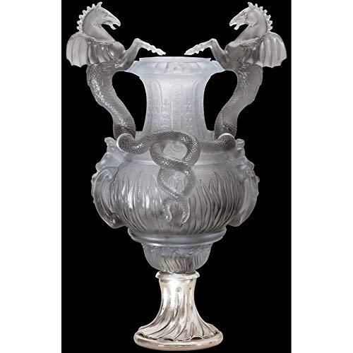 Daum Crystal Stanislas Urn Gray 03207-4