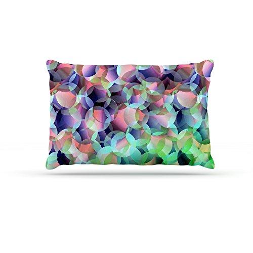 Kess InHouse Gabriela Fuente Bubbles  Fleece Dog Bed, 50 by 60 , Purple Green