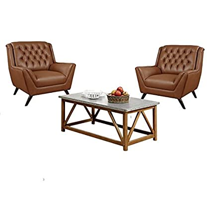 Amazon Com Home Square Set Of 2 Accent Chairs And Coffee Table Set