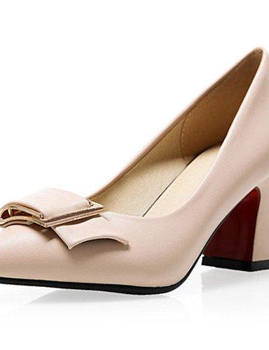 GGX/Damen Schuhe Kunstleder die vier Jahreszeiten Heels/Basic Pumpe/spitz Toe Heels Büro & Karriere/casualchunky almond-us6.5-7 / eu37 / uk4.5-5 / cn37