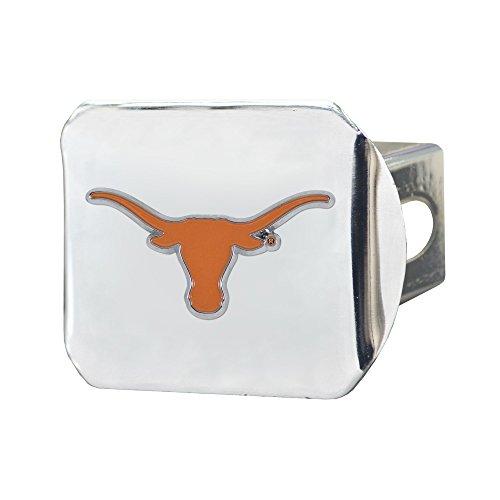 (SLS Texas Longhorns 3D Color Emblem Chrome Hitch Cover)