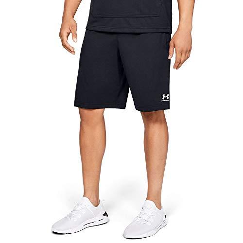 Under Armour Sportstyle Cotton Shorts, Black//Onyx White, X-Large