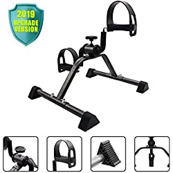 EF Pedal Exerciser Mini Stationary Bike,Foot Peddler Treadmill Seated Chair Cycler for Seniors and Elderly,Arms and Legs Workout,Exercise Bike