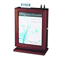 Safco Products 4236MH Customizable Wood Suggestion Box, Mahogany