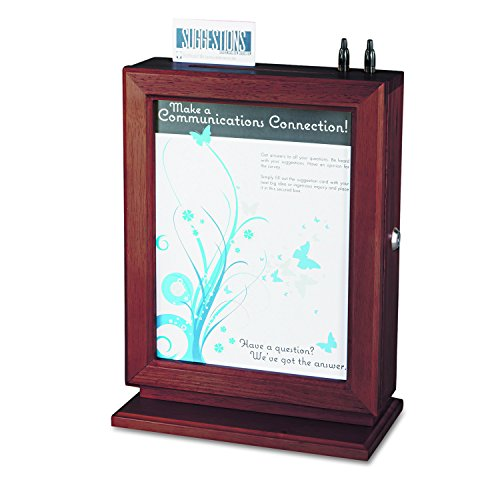 Safco Products 4236MH Customizable Wood Suggestion Box, Mahogany from Safco Products