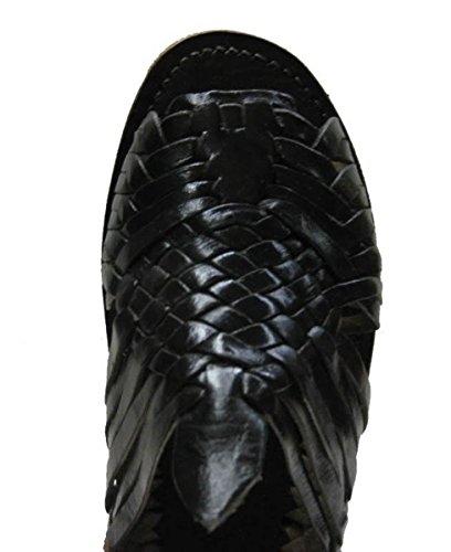 MEXICAN SANDALS-Mens Genuine Leather Quality Handmade Sandals Huarache Black sjFGh0