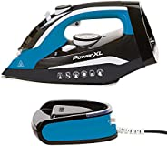 PowerXL Cordless Iron and Steamer, Lightweight Iron with Ceramic Soleplate, Vertical Steam, Anti-Calc, Anti-Dr