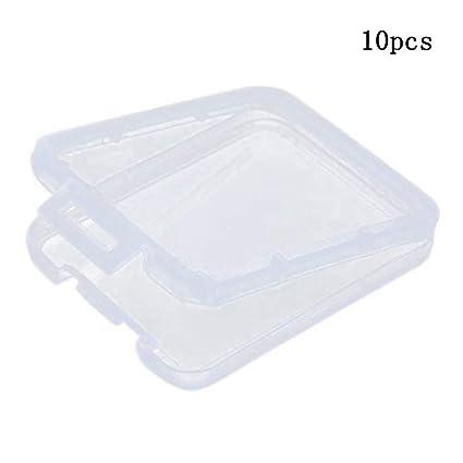 Ogquaton Estuche para Tarjetas de Memoria SD Soporte de la Caja de Almacenamiento de plástico (Tarjeta de Memoria no incluida) Caja de Almacenamiento ...