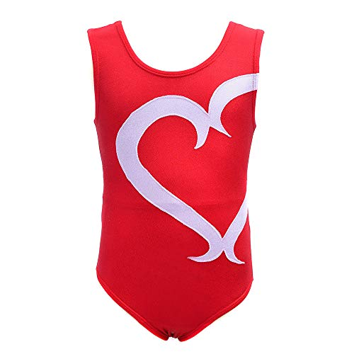 Gymnastics Leotards for Children Girls One-piece Swimming Colorful Doughnut Dancing Athletic Clothes 6T