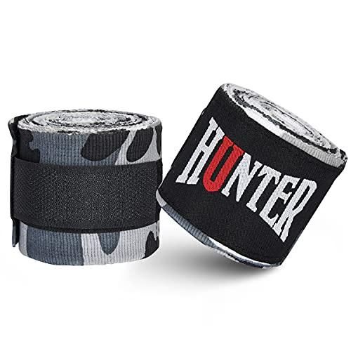 HUNTER Elastic Professional Ultra 180 inch Hand Wraps for Men, Women – Handwraps for Boxing Kickboxing Muay Thai MMA…