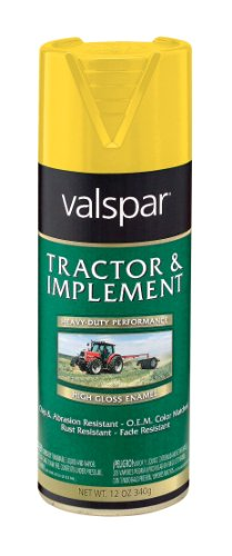 Valspar 5339-08 Equipment Yellow Tractor and Implement Spray Paint - 12 oz. - Equipment Paint