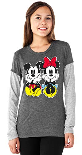 (Disney Junior T-Shirt Mickey & Minnie Mouse Layered Look Long Sleeve)