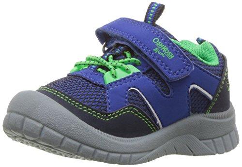 OshKosh B'Gosh Boys' Grapple Bumptoe Sneaker, Navy/Blue/Green, 7 M US (Grn Mens Sneakers)