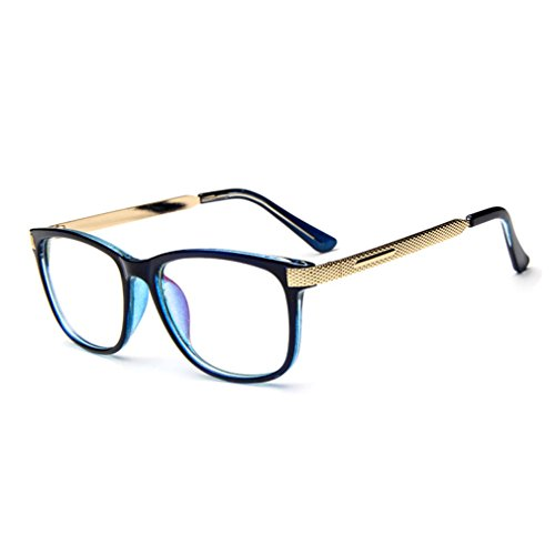 G&T Retro Fashion Men Womens Can Match Glasses Myopia Metal Leg Plain Casual - Gradientlens