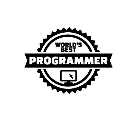 (Worlds Best Programmer Vinyl Decal Sticker (Black))