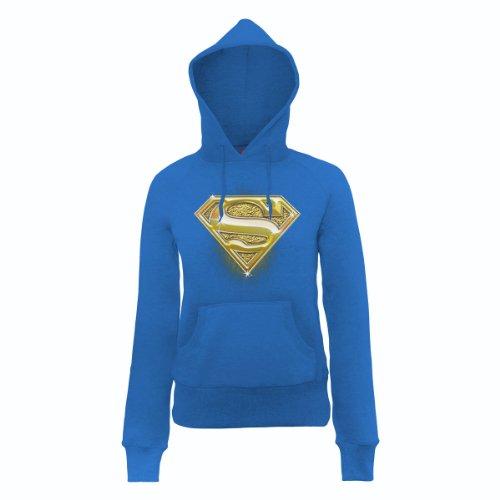 DC Comics - Sudadera de manga larga con capucha para mujer Azul (Royal Blue)