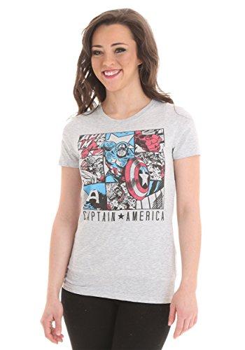 Mighty Fine Damen T-Shirt weiß weiß Gr. Größe L, weiß