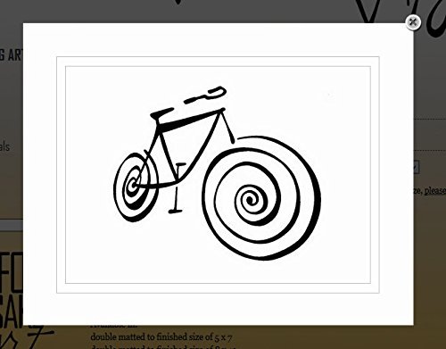 VonG-Art-Original-SayingQuote-Ride-bikebicycle-Black-White-Double-Matted-Sharpie-Artwork-11x14