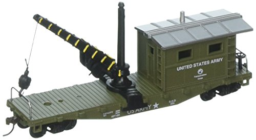 Model Power MDP98195 HO Work Caboose w/Crane, US Army