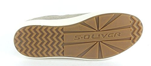 s.Oliver 23615, Sneakers Basses Femme TAUPE COMB