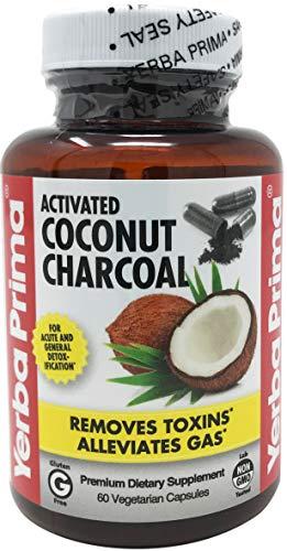 Yerba Prima Activated Coconut Charcoal, 60 Vegetarian Capsules