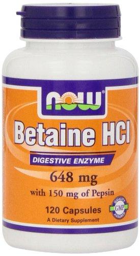Maintenant HCl bétaïne Foods, 648 mg, 120 Capsules