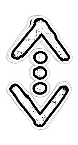 macknessfr Cukur sembol - The Tattoo of Cukur Men Gift 1-4x3 Vinyl Stickers, Laptop Decal, Water Bottle Sticker (Set of 3)