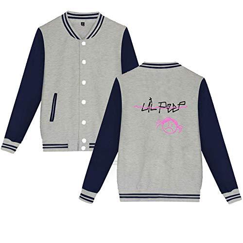 Pile Da Cappotto Cardigan Uniforme Lil Baseball Sweatshirt Besthoo Peep Grey1 Con Popolare Moda Donna Giacca U1f8w