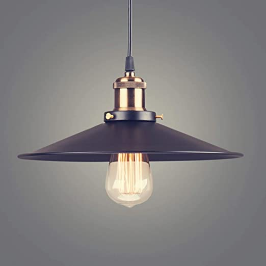 MAKKC Lámpara colgante American Country Negro lámpara de luz