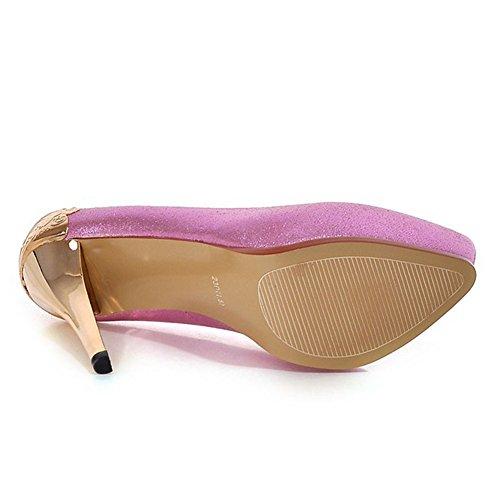 Minivog Platform Mujeres High Heel Zapatillas De Moda Morado