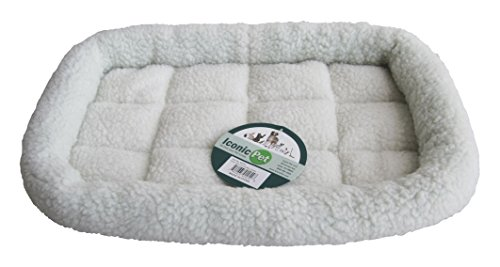 Iconic Pet Premium Synthetic Sheepskin Handy Bed, X-Small, - Sheepskin Synthetic