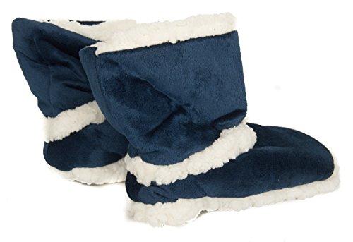 2a Calzino Articolo 025 Antiscivolo Blu Donna Stivaletto Pantofola Casa Ciocca 795 FqP68P