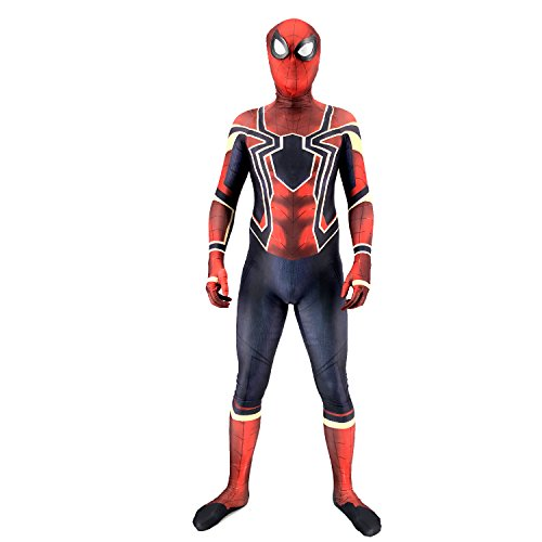 Bisika Cos Zentai Costumes, Halloween Cosplay Jumpsuit, 3D Superhero Homecoming Costume, Lycra Spandex -