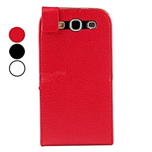 SOL ships in 48 hours Lichee Pattern PU Leather Case for Samsung Galaxy S3 I9300 (Multi-Color) , White