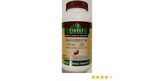 Amazon.com: Finest Nutrition Magnesium 200 mg 120 Chewable Tablets: Health & Personal Care