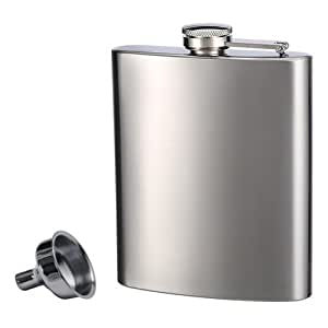 Top Shelf Flasks Stainless Steel Flask & Funnel Set, 8 oz