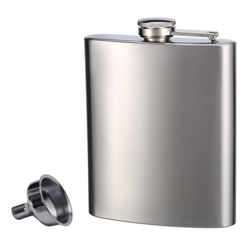 Top Shelf Flasks Stainless Steel Flask & Funnel Set, 8 oz]()
