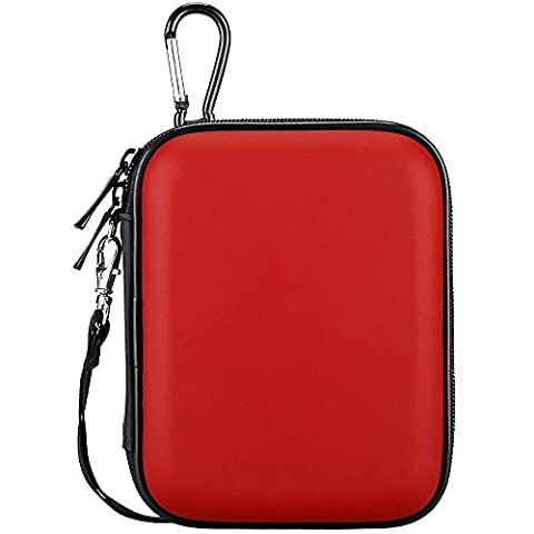 Lacdo Waterproof Hard EVA Shockproof Pouch Case 2.5-Inch Hard Drive, Red (Passport Ultra 500)