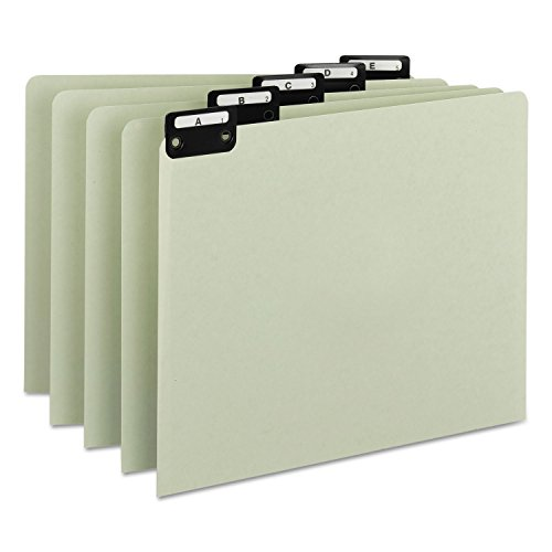 Smead Recycled Top Tab File Guides, Alpha, 1/5 Tab, Pressboard, Letter, 25/Set ()