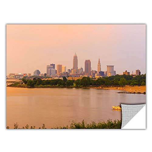 19' Prints (ArtWall ArtApeelz Cody York 'Cleveland 19' Removable Graphic Wall Art, 16 by 24-Inch)