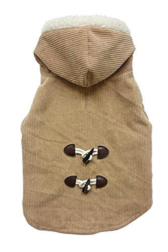 Camel Corduroy (Fashion Pet 752797 Camel Outdoor Dog Corduroy Toggle Coat, X-Large)