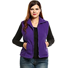Meaneor Fashion Women Casual Front Zipper Plus Size Thickened Lint Warm Vest (L-4XL)
